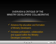 Ministry Developers Collaborative slideshow